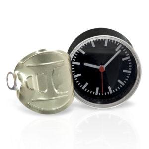 orologio da tavolo a forma di scatoletta tonno